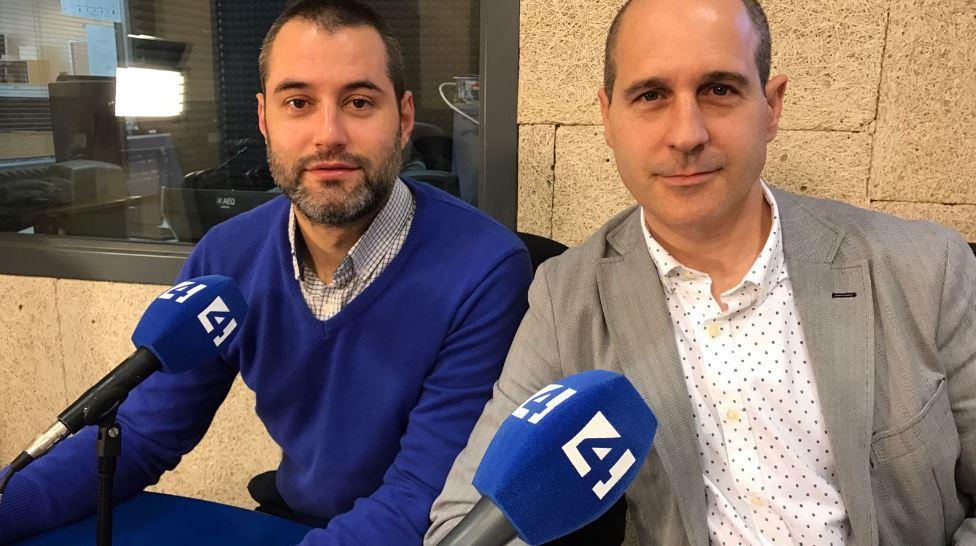 Foto de Luis G Langa y Pau A. Monserrat en Canal 4