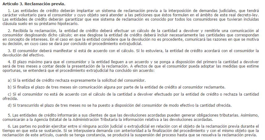 Reclamacion unicaja clausula suelo creditoorda for Que tengo que hacer para reclamar la clausula suelo