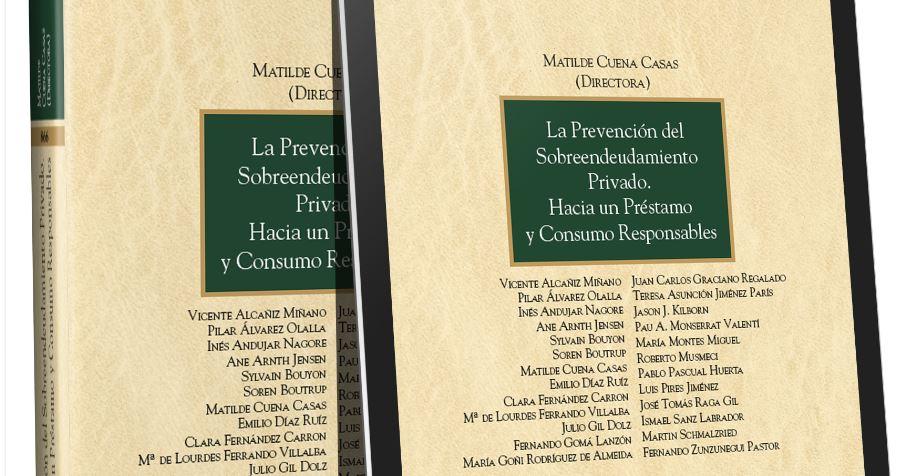 Libro La Prevención del Sobreendeudamiento Privado de Aranzadi.