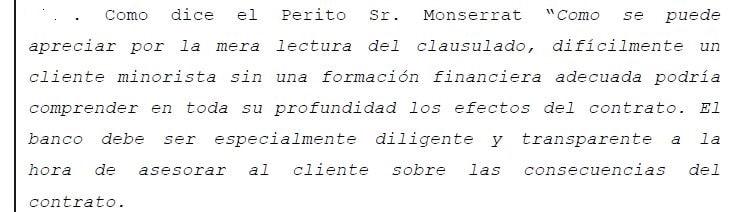 Mención al perito Pau A. Monserrat en la sentencia