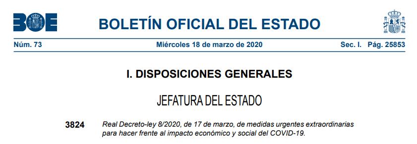 Real Decreto-ley 8/2020