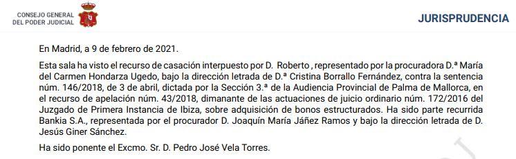 Cristina Borrallo. Tribunal Supremo