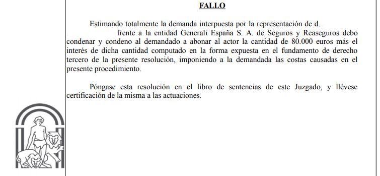 Sentencia sobre seguro por cierre Covid-19